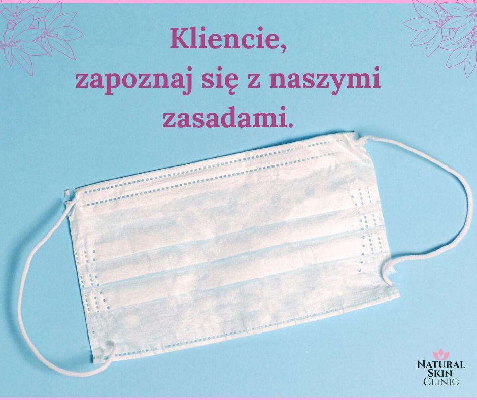 Maseczka Ochronna - salon kosmetyczny Kraków
